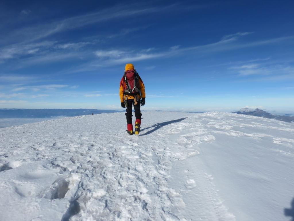 Billede af bjergbestiger på toppen af Cotopaxi