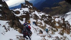 Billede af bjergbestigning, leder til info om sværhedgrader