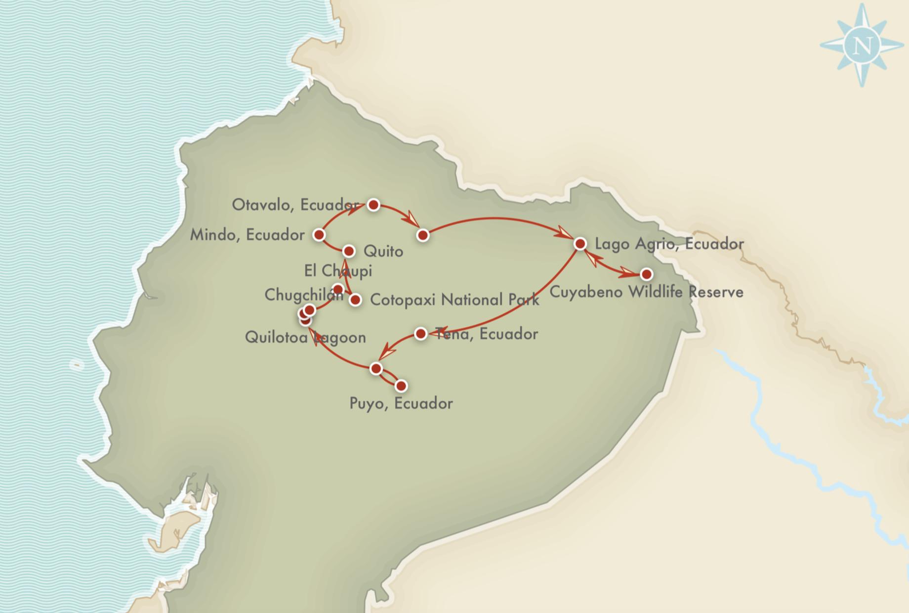 Kort over adventurerejsen
