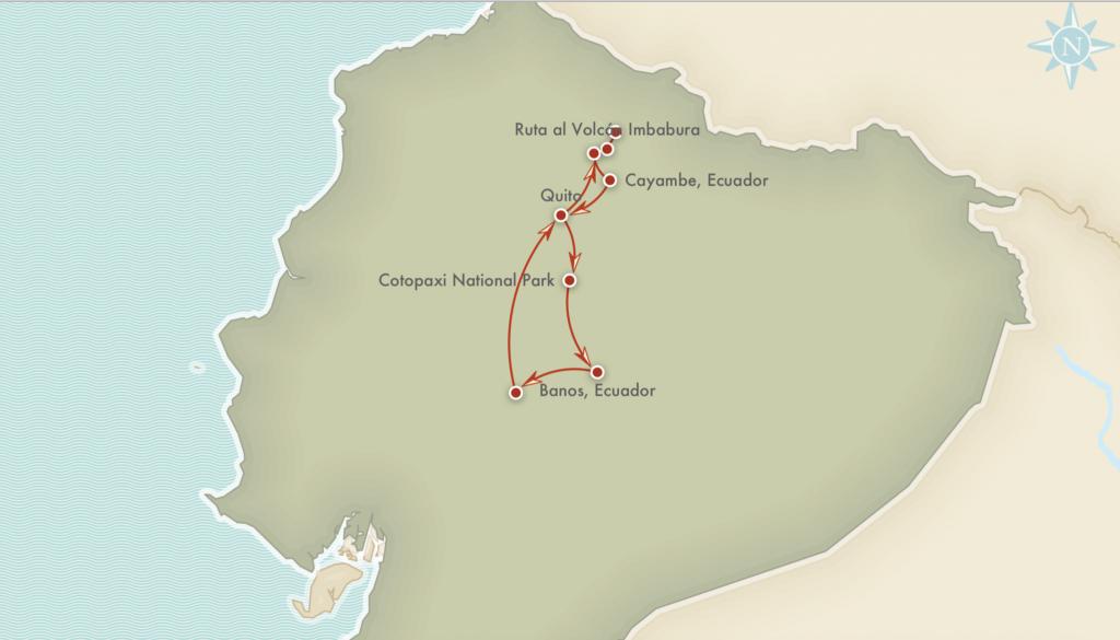 Kort over rejseprogrammet