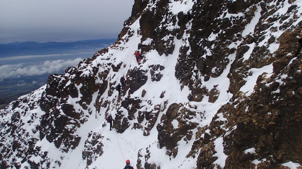 Billede af bjergbestigere på Iliniza Norte