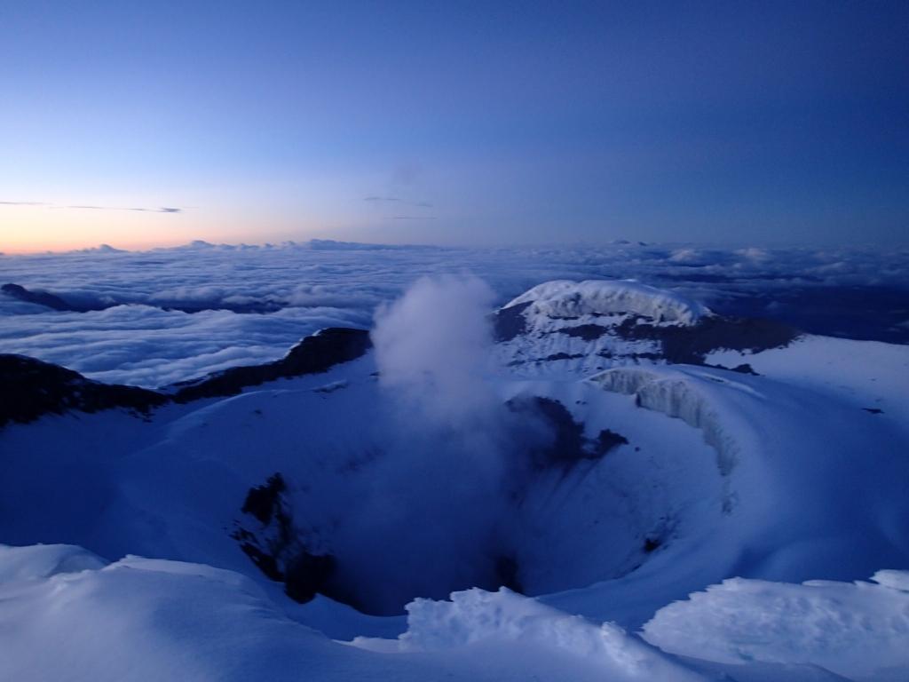 Billede af Cotopaxis unikke vulkankrater