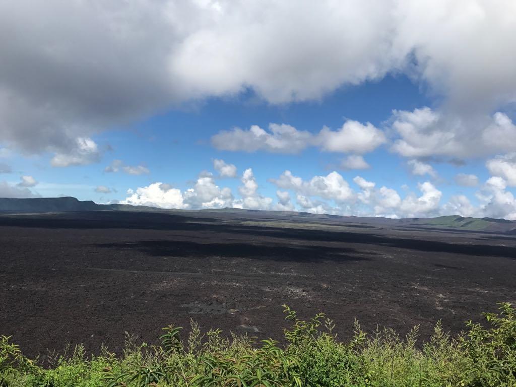 Billede af Sierra Negra vulkankrateret på Galapagos øerne