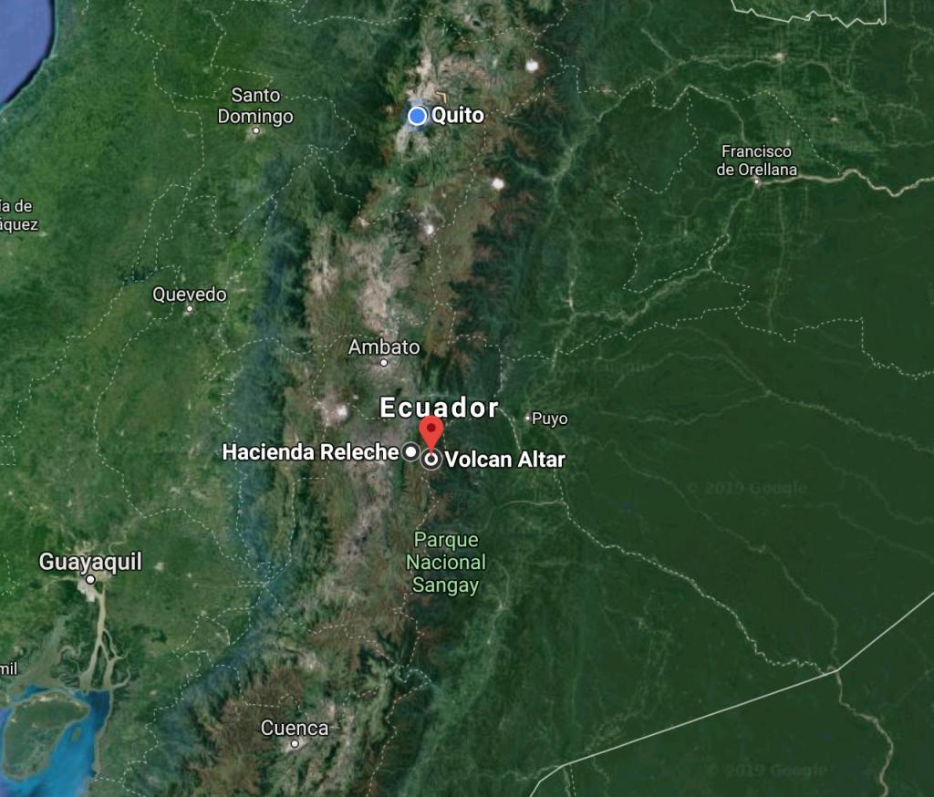 Trek El Altar - map